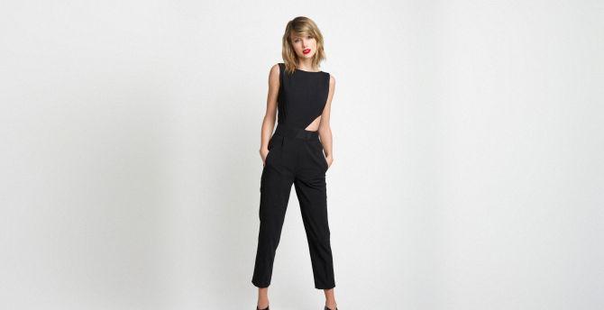 Taylor swift, black dress, 2019 wallpaper