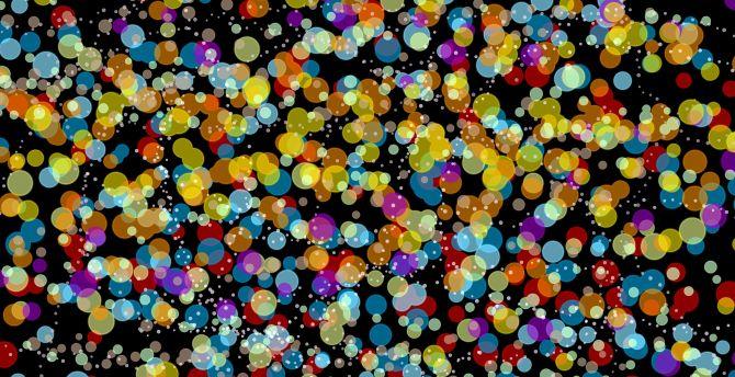 Bokeh, circles, colorful, abstract wallpaper