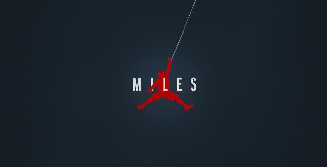 Miles Morale, Spider-Verse, minimal, art wallpaper