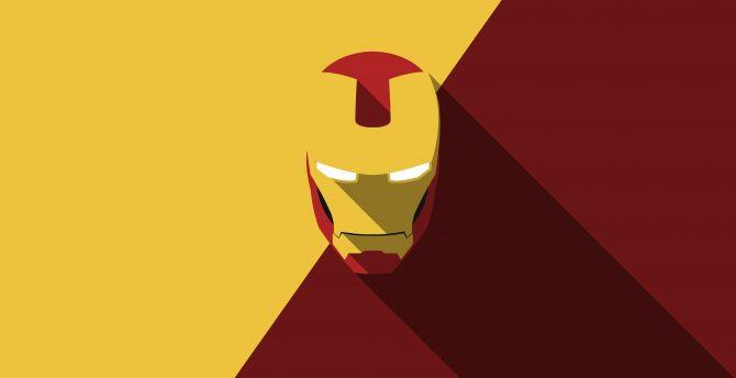 desktop wallpaper iron-man, helmet, minimal, hd image, picture