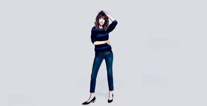 Minimal, Alexa Chung, minimal, celebrity, jeans wallpaper