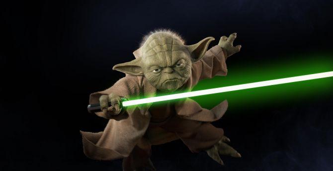 Desktop Wallpaper Yoda Star Wars Battlefront Ii Video Game Minimal Hd Image Picture Background 10903a