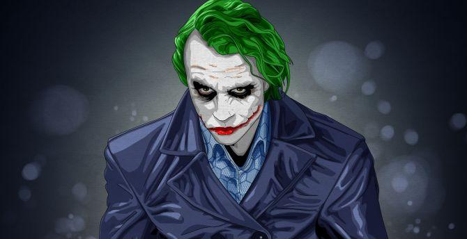Desktop Wallpaper Joker Notorious Villain Artwork Dc