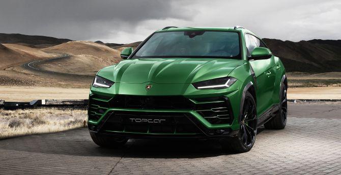Desktop Wallpaper Lamborghini Urus Compact Suv Green Car 2018 Hd