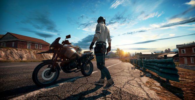 PlayerUnknowns Battlegrounds Online Game Biker Wallpaper