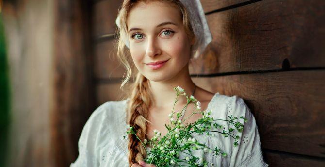 Beautiful eyes of girl