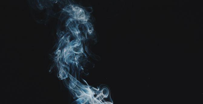 Minimal, smoke, dark wallpaper