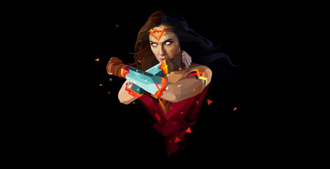 Wonder woman abstract art