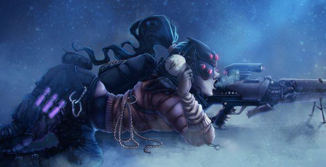 Sniper Rifle Snipers Artwork Wallpapers Hd Desktop And: Desktop Wallpaper Widowmaker, Overwatch, Sniper, Lying
