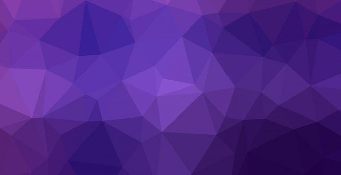 Desktop Wallpaper Geometry Triangles Gradient Purple