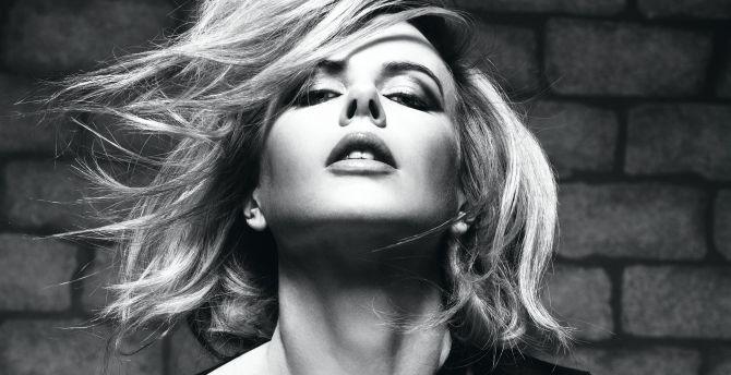 Monochrome, beautiful, Nicole Kidman wallpaper