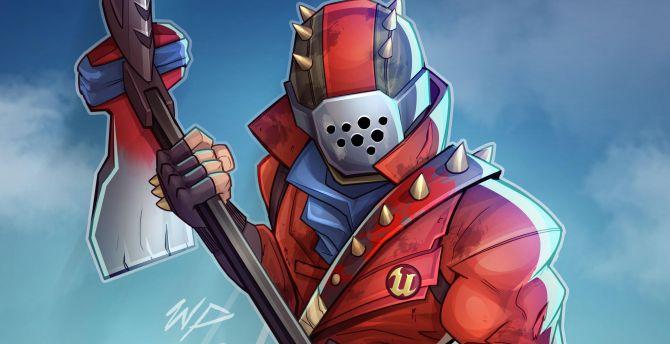 Fortnite, video game, fan art wallpaper