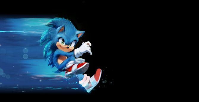 Desktop Wallpaper Sonic The Hedgehog 2020 Movie Art Hd Image Picture Background 198942