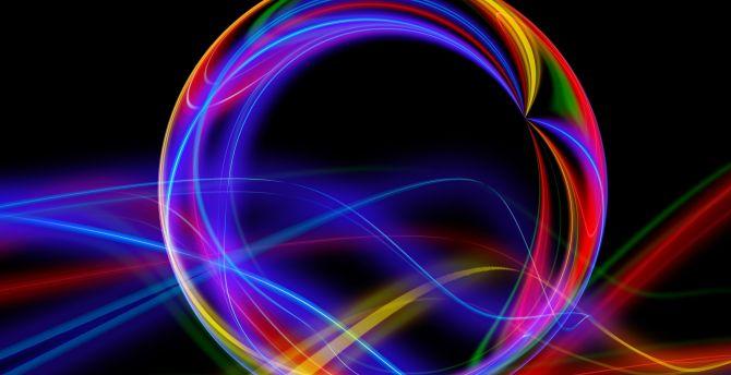 Ball, colorful, lines, minimal wallpaper