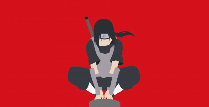 Desktop Wallpaper Minimal Warrior Naruto Itachi Uchiha Hd Image Picture Background 1ca6f9