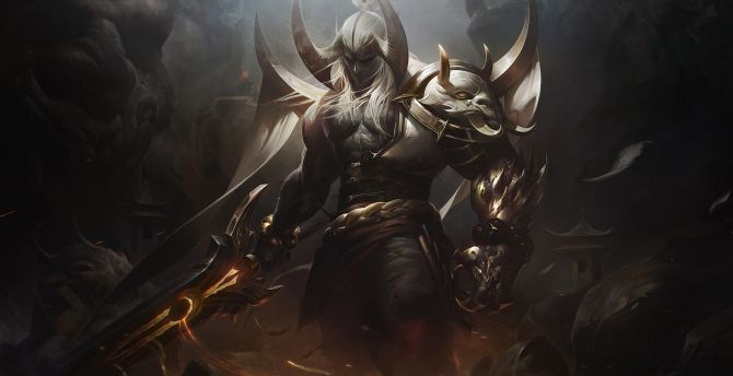 Aatrox, warrior, League of Legends, onilne game wallpaper