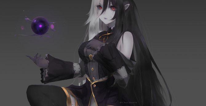 Desktop Wallpaper Devil Anime Girl Magic Dark Hd Image