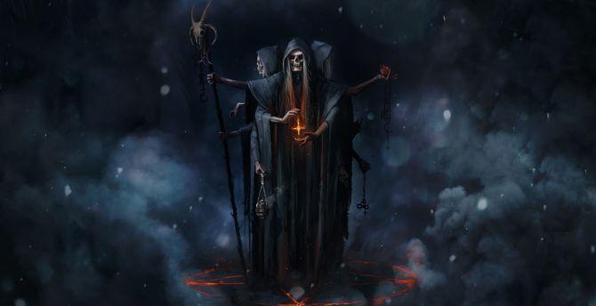 Fantasy Art Skull Knight