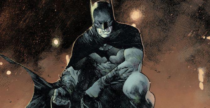 Batman, dc comic, sit, art wallpaper