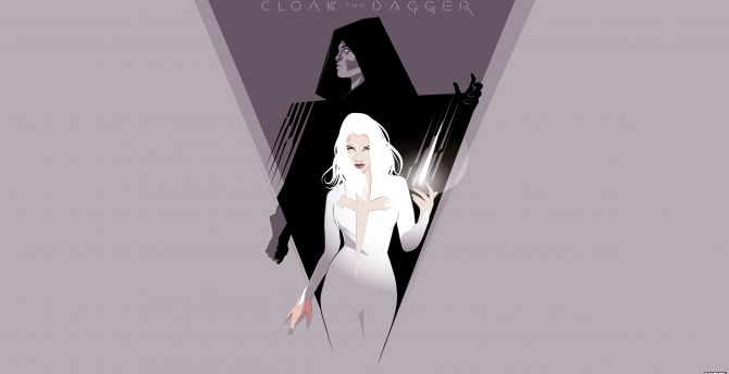Cloak & Dagger, marvel, tv show, poster, minimal, art wallpaper