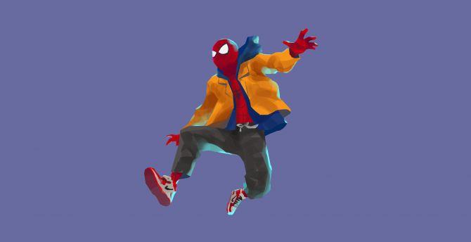 Desktop Wallpaper Spider Man Into The Spider Verse Spider Man