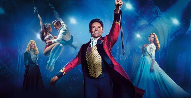 The Greatest Showman, Hugh Jackman, Rebecca Ferguson, poster, 2017 wallpaper