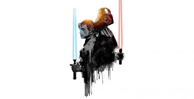 Desktop Wallpaper Darth Vader Luke Skywalker Star Wars