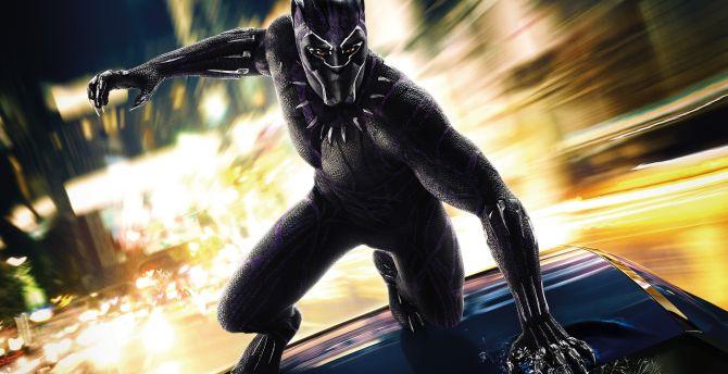 Black panther, 2018 movie, superhero wallpaper
