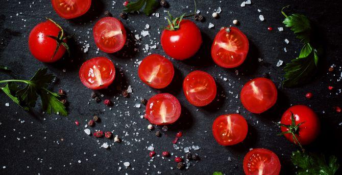 Tomato, vegetables, kitchen wallpaper