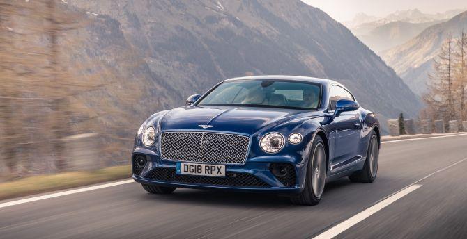 Blue, luxury car, Bentley Continental GT wallpaper