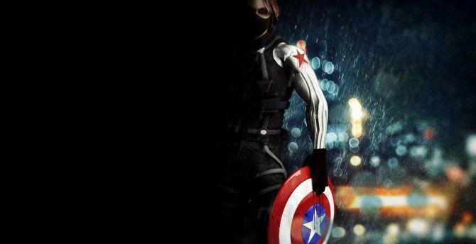 Desktop wallpaper bucky barnes, captain america: the winter