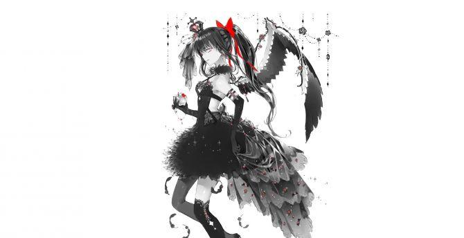 Desktop Wallpaper Anime Black And White Homura Akemi Hd Image