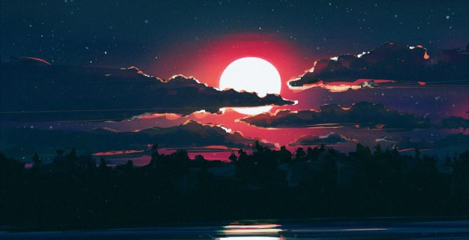 Wonderful Wallpaper Night Art - clouds-solar-moon-art  Collection.jpg