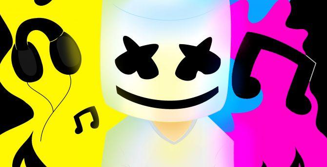 Desktop Wallpaper Marshmello Music Colorful Hd Image