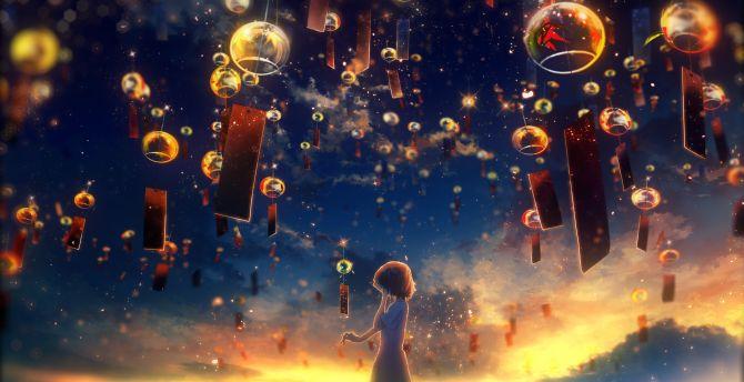Desktop Wallpaper Lantern Celebration Night Out Anime Hd Image Picture Background 31adde