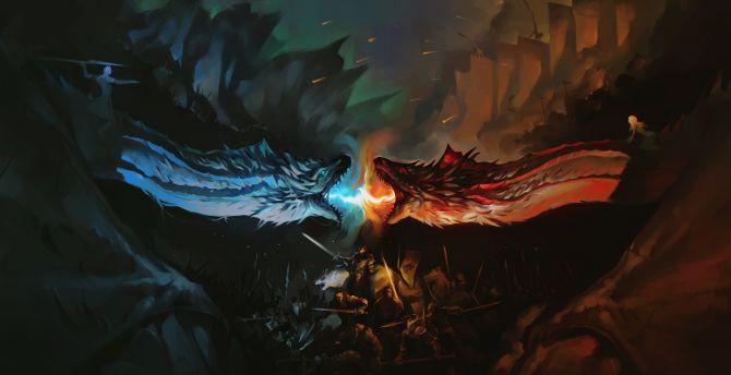 Game of thrones dragons fan art