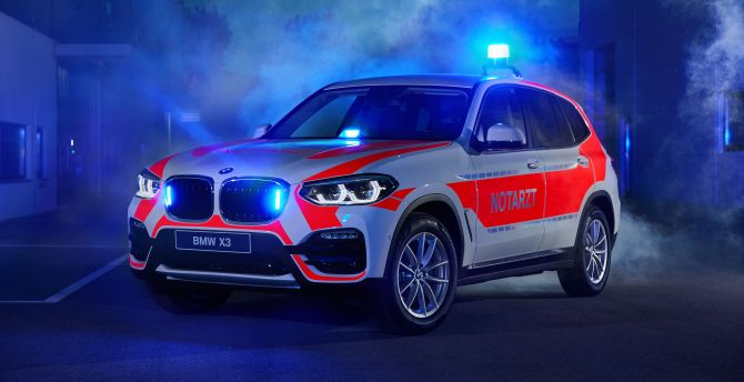 Einsatzfahrzeug: BMW X3 xDrive20d - NEF, 2018 wallpaper