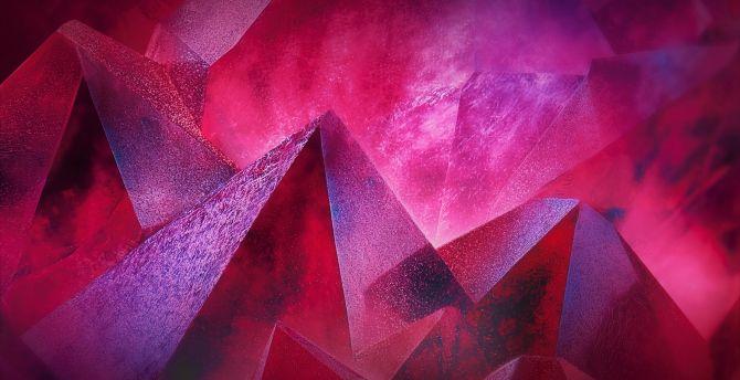 Pyramids, pink, abstract  wallpaper
