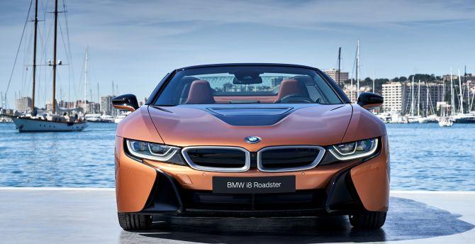 2018 BMW i8 roadster, at port wallpaper