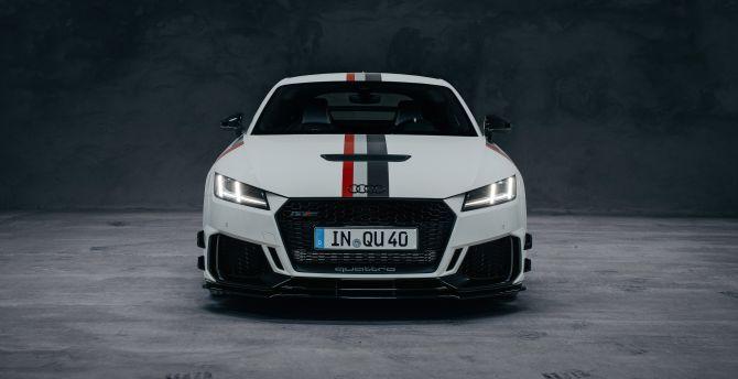 Desktop Wallpaper White Car Audi Tt Rs Coupe 2020 Hd Image Picture Background 342397