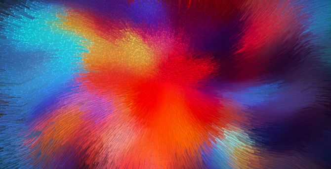 Colorful, micro threads, waves, fractal, blur, colorful wallpaper