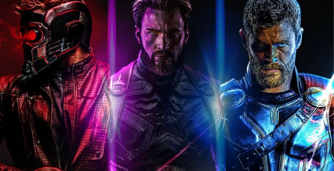 Desktop Wallpaper Avengers Infinity War Star Lord Captain America