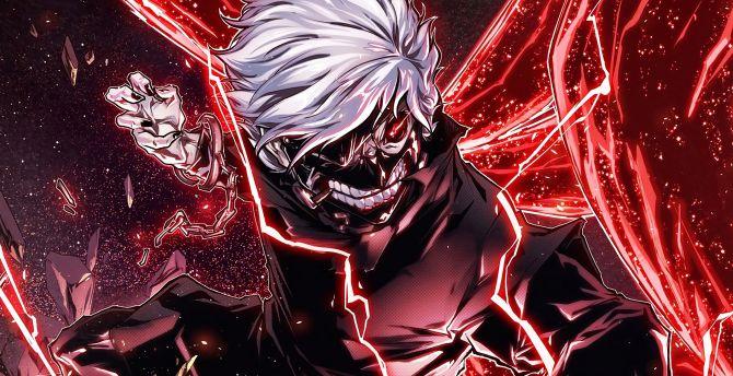 Desktop Wallpaper Ken Kaneki Angry Anime Boy Hd Image Picture Background 37330d