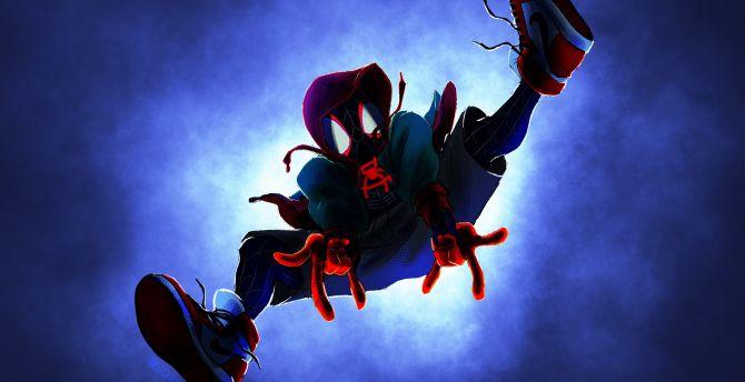 Desktop wallpaper spider-man: into the spider-verse, jump ...