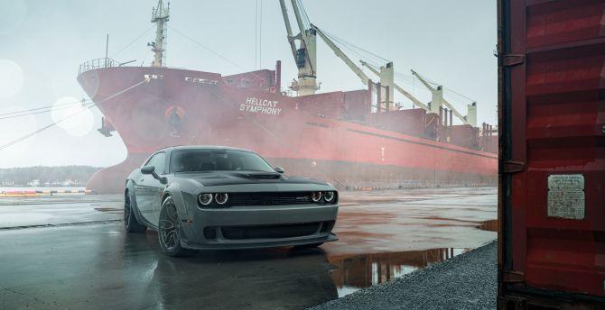 Desktop Wallpaper Dodge Challenger Muscle Car 2020 Hd Image Picture Background 38f00d