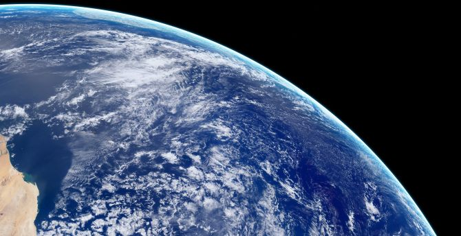Desktop Wallpaper Clouds Earth View From Space Hd Image