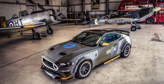 2018 Ford Eagle Squadron Mustang GT, sports car wallpaper