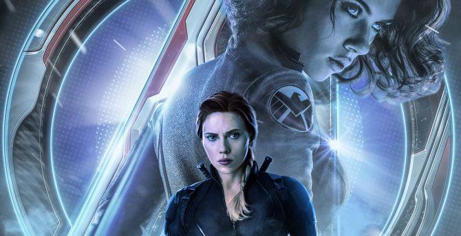 Desktop Wallpaper 2019 Movie Avengers Endgame Black Widow Movie