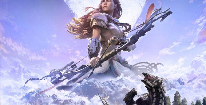 Horizon zero dawn 5k video game aloy