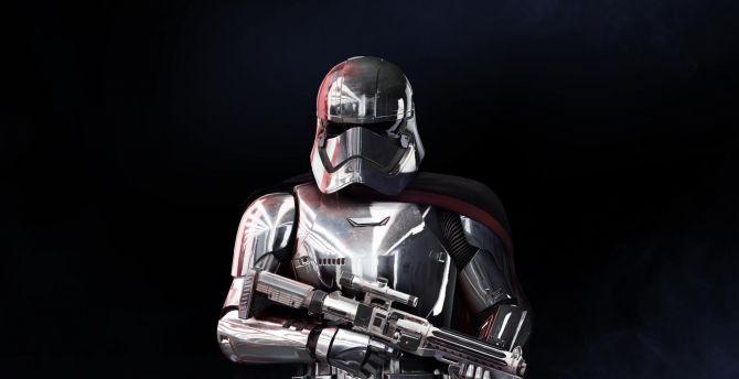Desktop Wallpaper Captain Phasma Star Wars Battlefront 2 Soldier Hd Image Picture Background 3f37dc
